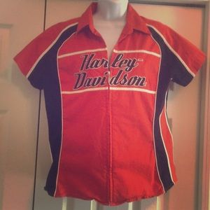 Harley Davidson zip up top